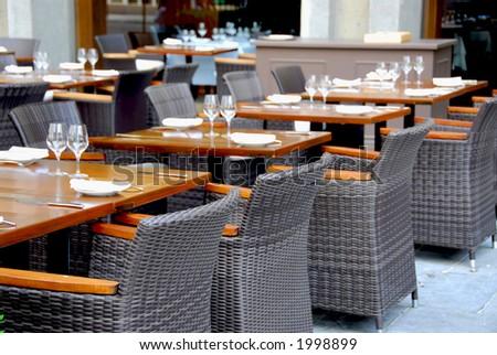 Empry restaurant - stock photo