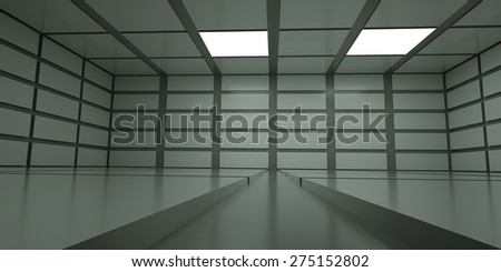 Empty abstract space with light , 3 d render - stock photo