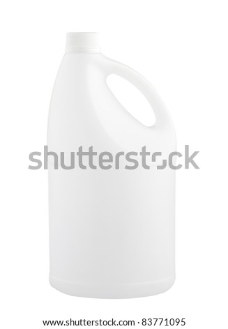 Empty and clear liquid container gallon isolated   - stock photo
