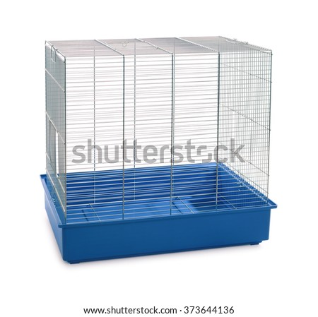 Empty animal cage isolated on white