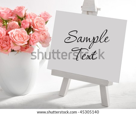 Empty artists canvas on an easel, put your own image on it - stock photo