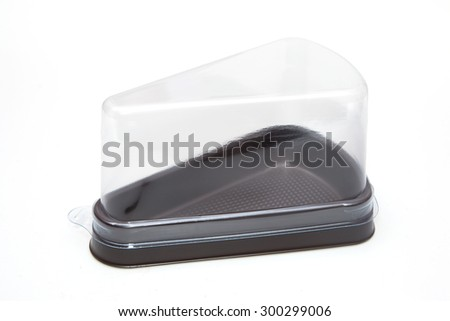 Empty bakery plastic package - stock photo
