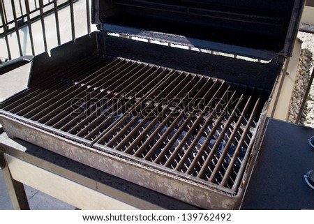 Empty Barbecue Grill at Sunny Day