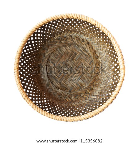 empty basket on a white background - stock photo