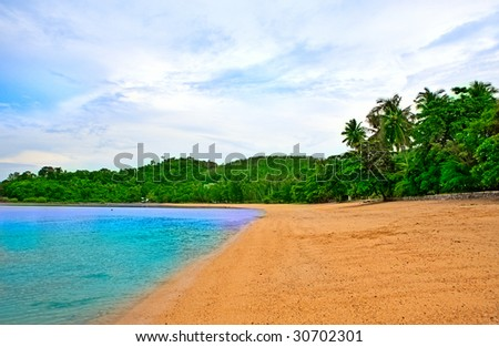 Empty beach - stock photo
