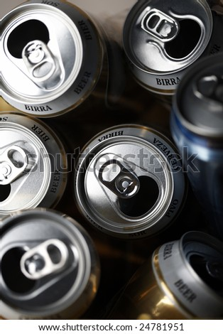 empty beer can - stock photo