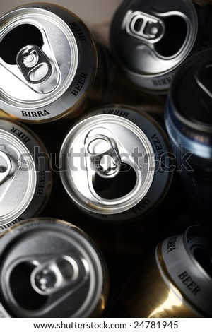 empty beer cans
