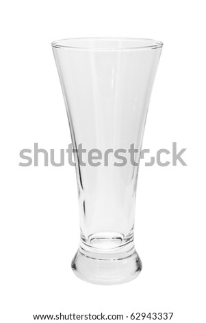 Empty beer glass isolated on a white background