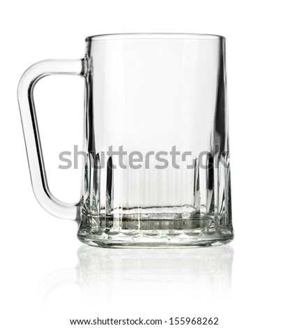 Empty beer mug isolated on white backgroundÃ?Â?? with clipping path - stock photo
