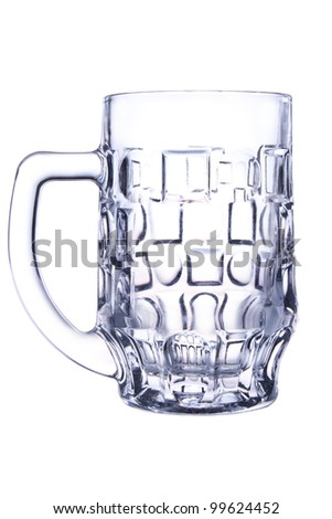 empty beer mug, shot on white background