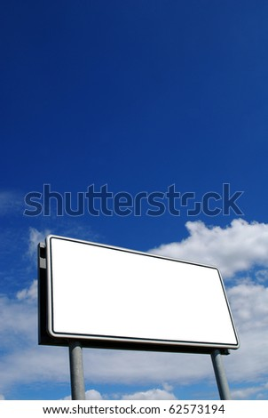Empty billboard for you to advertise your message - stock photo