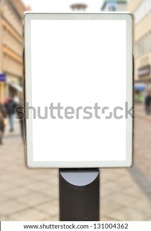 Empty billboard in city center - stock photo