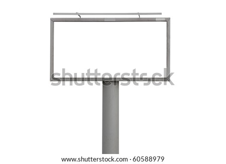 Empty billboard with clipping path - stock photo