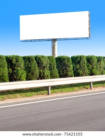 Empty Billboard with the sky - stock photo