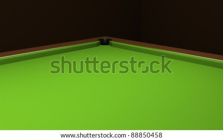 Empty billiard table with green cloth. - stock photo