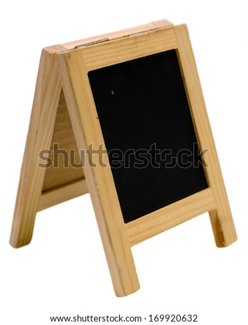 Empty blackboard menu stand - stock photo