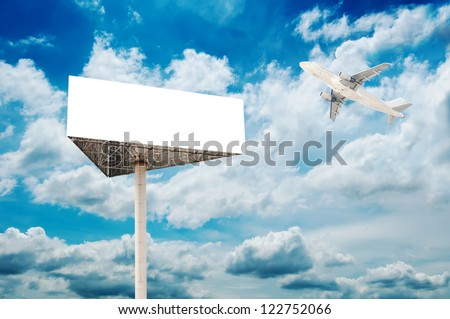 empty blank billboard - stock photo