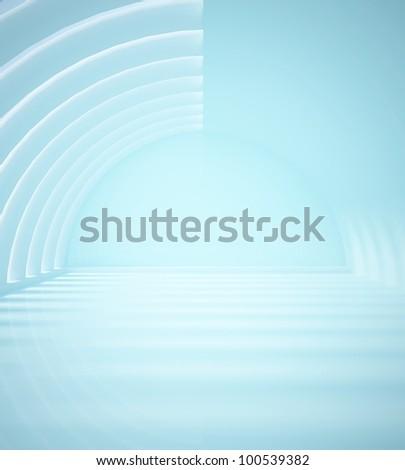 empty blue interior - stock photo