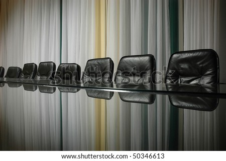 empty board room, business concept - stock photo