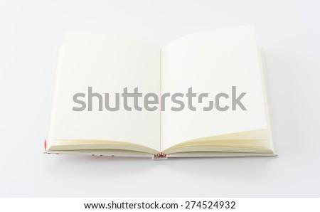 empty book on white background - stock photo