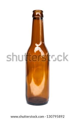 Empty bottle. Isolated on white background - stock photo