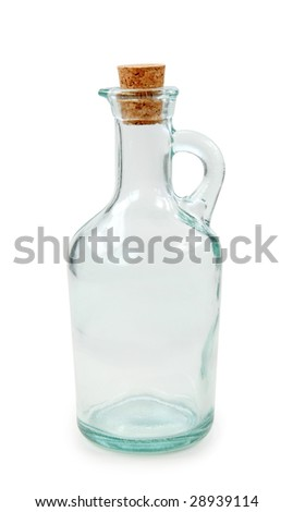 Empty bottle isolated on white background