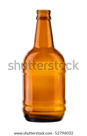 empty bottle on a white background