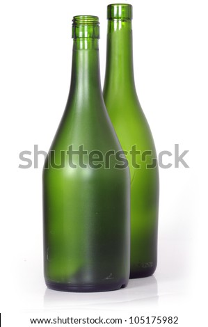 empty bottles of brandy