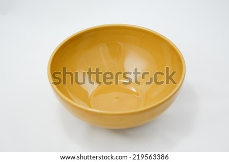 Empty Bowl isolate on white background