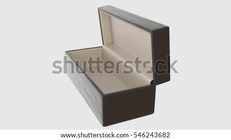 Empty box on white background. 3d rendering.