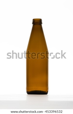 Empty Brown Bottle isolated