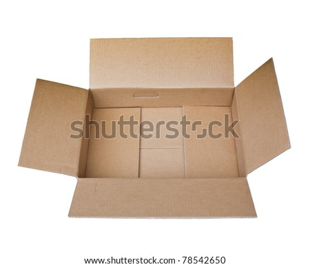 empty brown recycle cardboard paper box