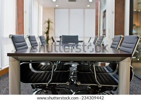 Empty business conference room interior.  - stock photo
