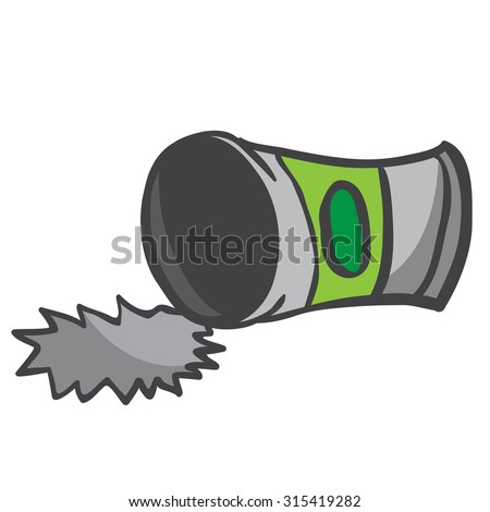 empty can cartoon illustration