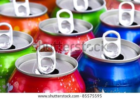 Empty cans background - stock photo