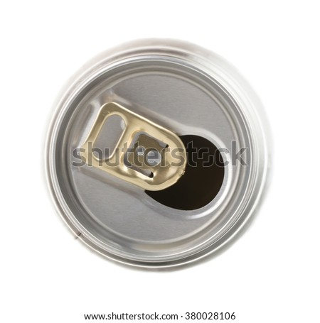 empty cans  isolated on white background.