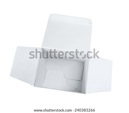 Empty cardboard box from above - stock photo