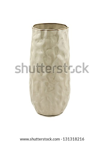 empty ceramic isolated on a white background - stock photo