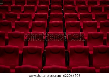 Empty chairs in an empty theater