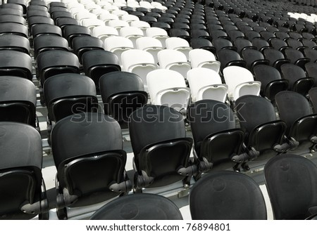 empty chairs inside the stadium