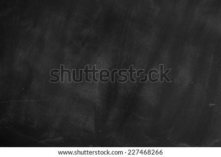 Empty Chalk board Background/Blank Blackboard Background - stock photo
