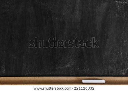 Empty Chalkboard./Empty Chalkboard  - stock photo