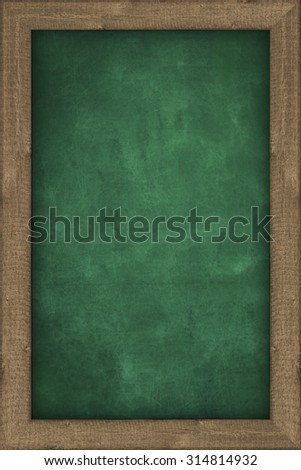 empty chalkboard with wooden frame - background