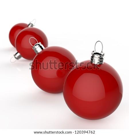 Empty Christmas ornaments - stock photo