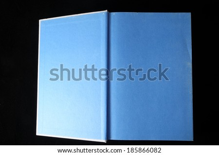 Empty Classic Book Isolated over a Black Background