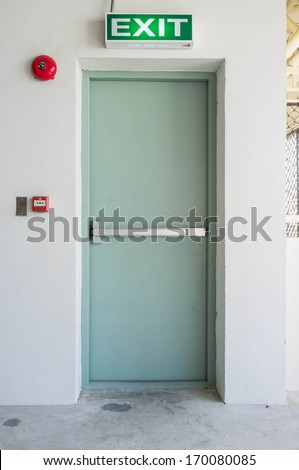 empty closed emergency exit door & Empty Closed Emergency Exit Door Stock Photo 170080085 - Shutterstock pezcame.com