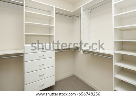 Empty closet space on modern bedroom. Empty Closet Stock Images  Royalty Free Images   Vectors
