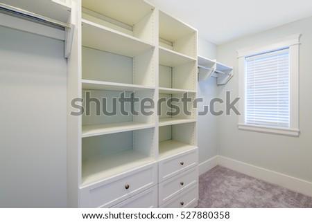 Captivating Empty Closet, Working Closet, Cupboard In Bedroom.
