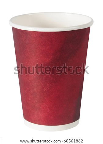 Empty coffee cup. Isolated - stock photo