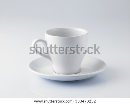 empty coffee cup on the white background - stock photo